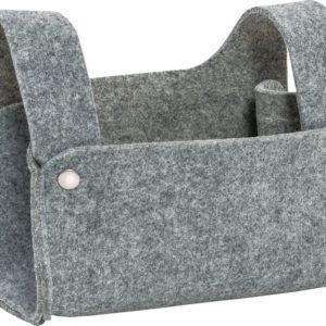 mini viseča vreča 22 x 1,5 x 15 cm sive barve