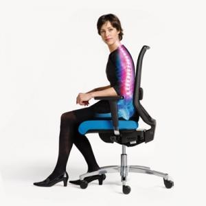 Nepravilna drža na pisarniškem stolu