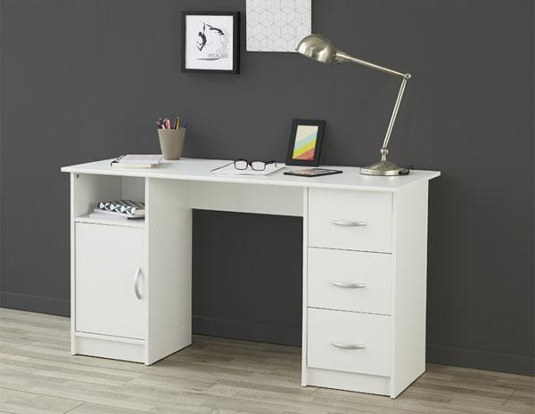 Pisalna miza Buster bela 135x73,5x55cm