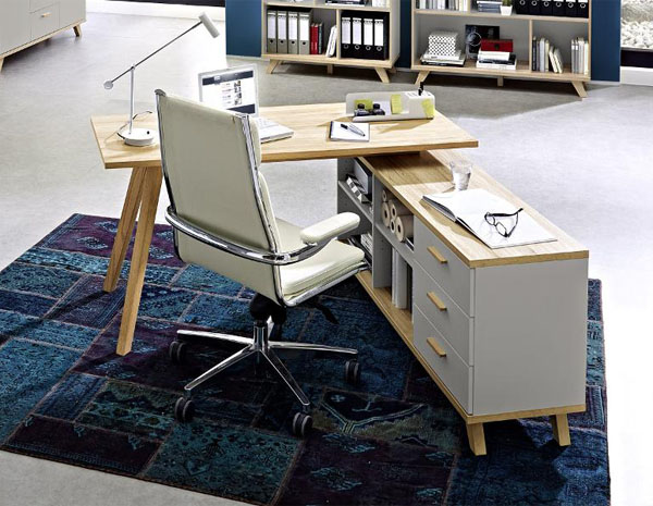 Pisarniška miza s predali Oslo 144x75x145cm