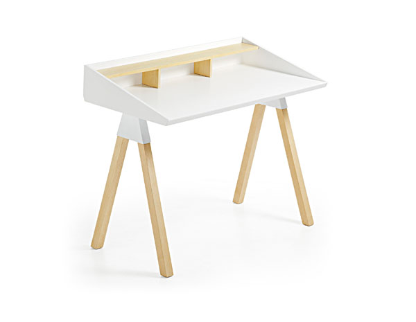 Pisarniška miza Stick bela 90x120x65cm