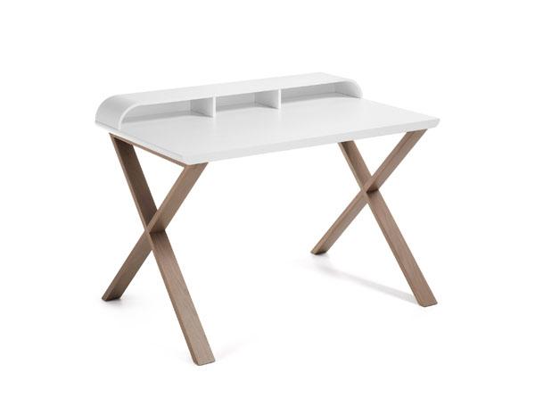 Pisarniška miza Success hrastov les bela