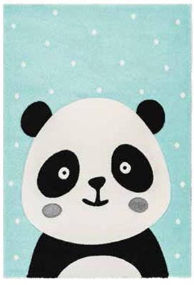 Preproga AMI zelene barve vzorec panda