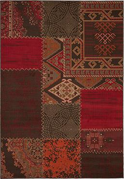 Preproga CON rdeče barve abstraktni vzorec