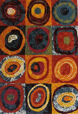 Preproga ESP mavričnih/pisanih barv abstraktni vzorec