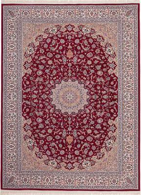Preproga ISF rdeče barve starinski vzorec