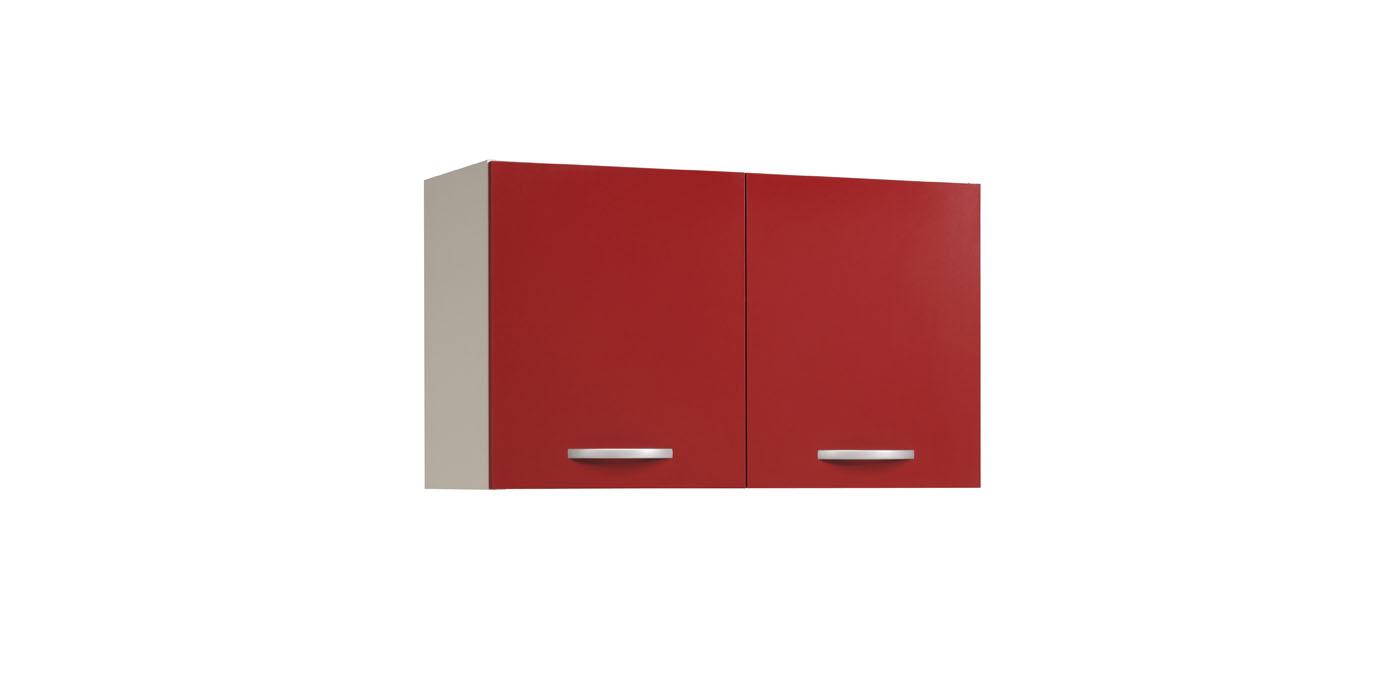 Kuhinjska zgornja omarica Eko rdeca