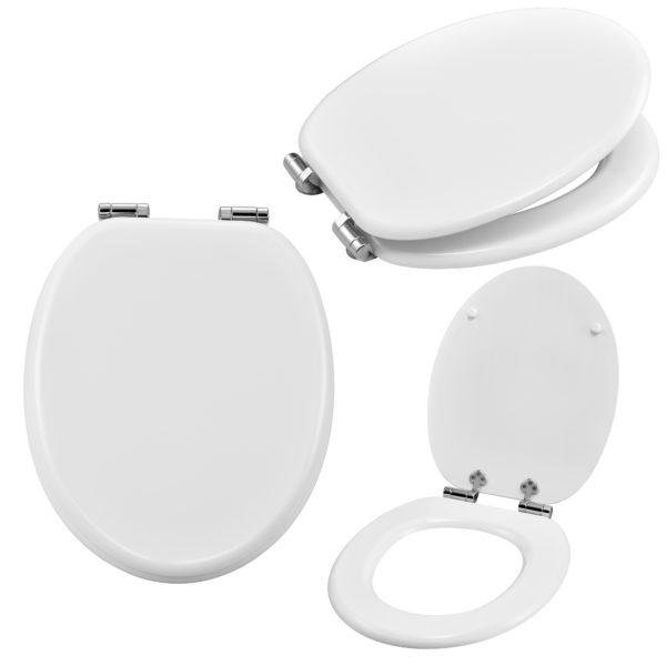 [neu.haus]® WC deska s samodejnim zapiranjem 'soft close' - bela